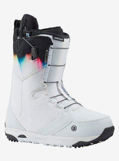 Women S Burton Limelight Snowboard Boot Shown In White Spectrum Snowboard Boots Boots Snowboarding Women