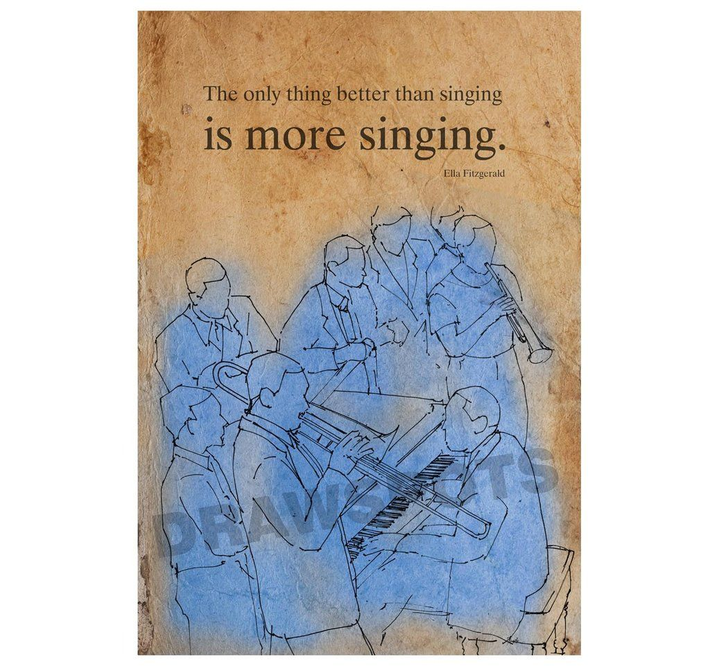 Ella Fitzgerald quote The only thing better than singing is more singing. 8x11in and https://t.co/vkCfL2qEZn https://t.co/TxA50bWckT