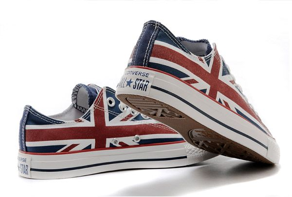 647b7a00d16 Converse UK Flag All Star Union Jack Rock Low | Hurrah for the UK in ...