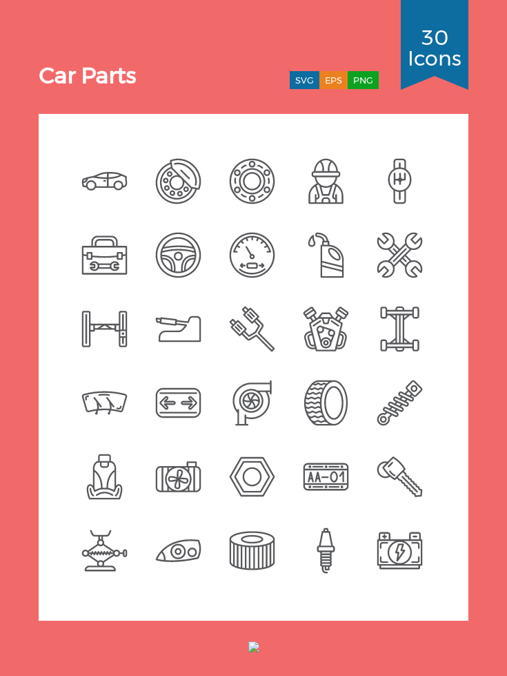 Download Car Parts Icon Pack Available In Svg Png Eps Ai Icon Fonts Icon Pack Car Parts Icon