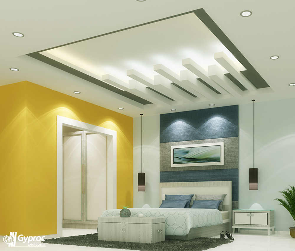 Experience a positive chage in your home with this for Master bedroom ceiling designs