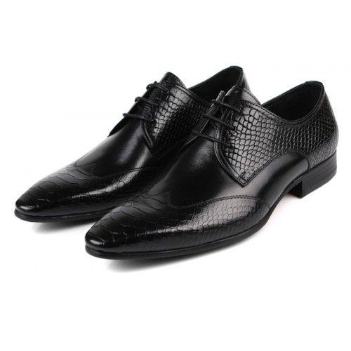 Chaussures costume homme pointe et quartiers texturés