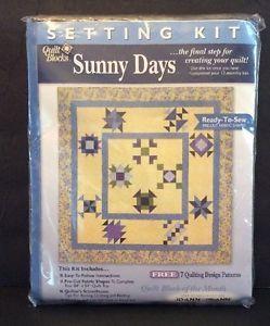JoAnn Fabrics Sunny Days Quilt Blocks Setting Kit Ready To