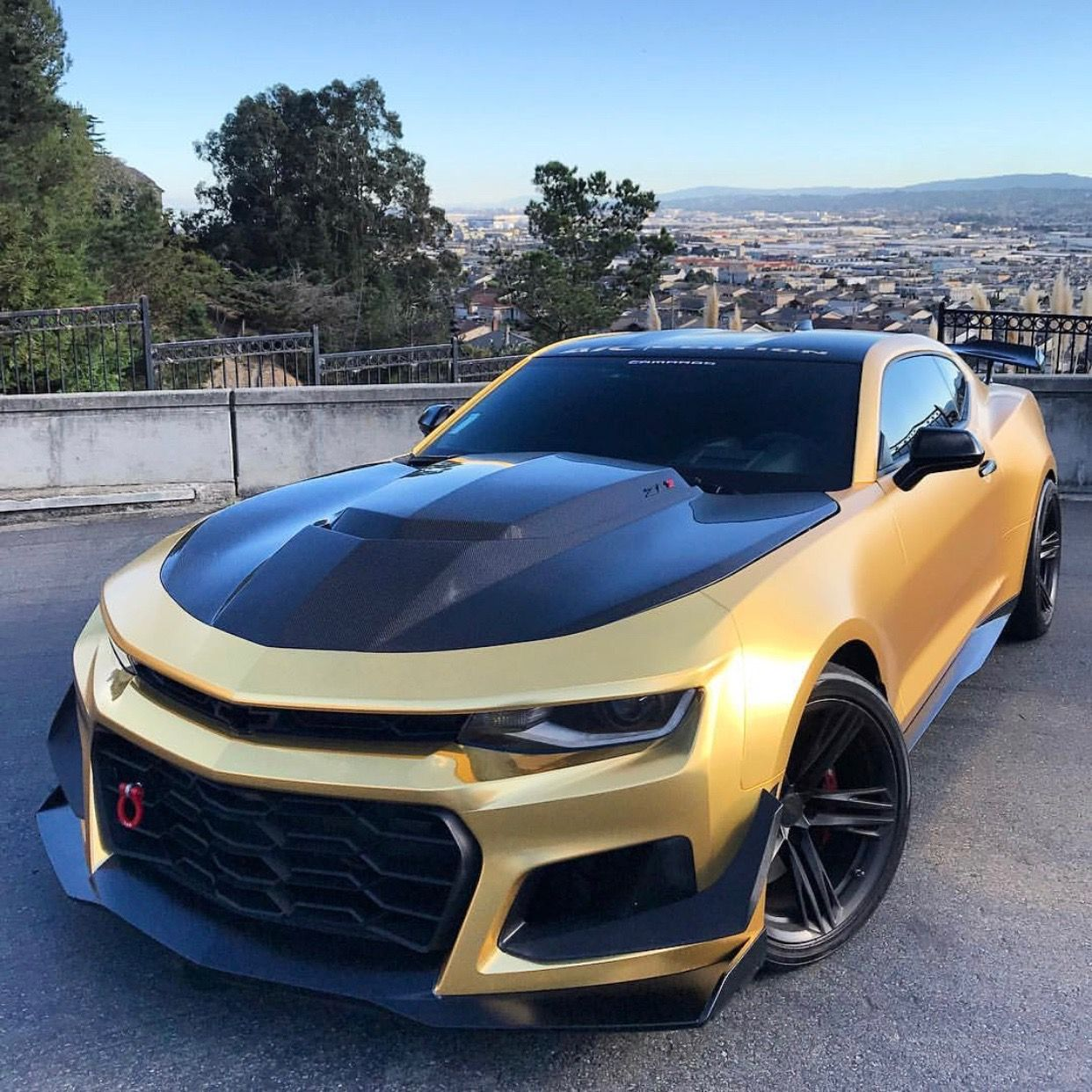 Chevrolet Camaro Zl1 1le Painted In Summit White And Wrapped In