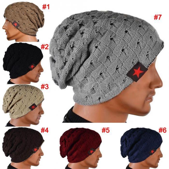 Aliexpress.com  Comprar El invierno caliente nueva moda hombres Skull  Chunky mujeres Knit Beanie Reversible Baggy Cap Unisex caliente del  sombrero HB88 de ... 3332dc6cc84