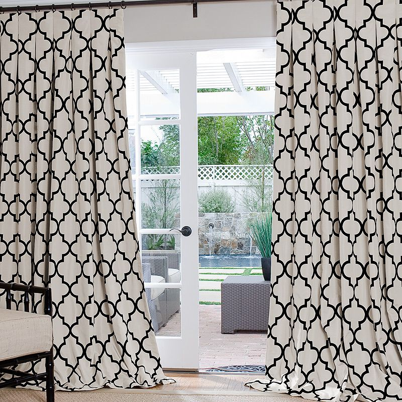 with lush moroccan white magnificent panel curtains trellis curtain pattern decor pair and blackout edward black