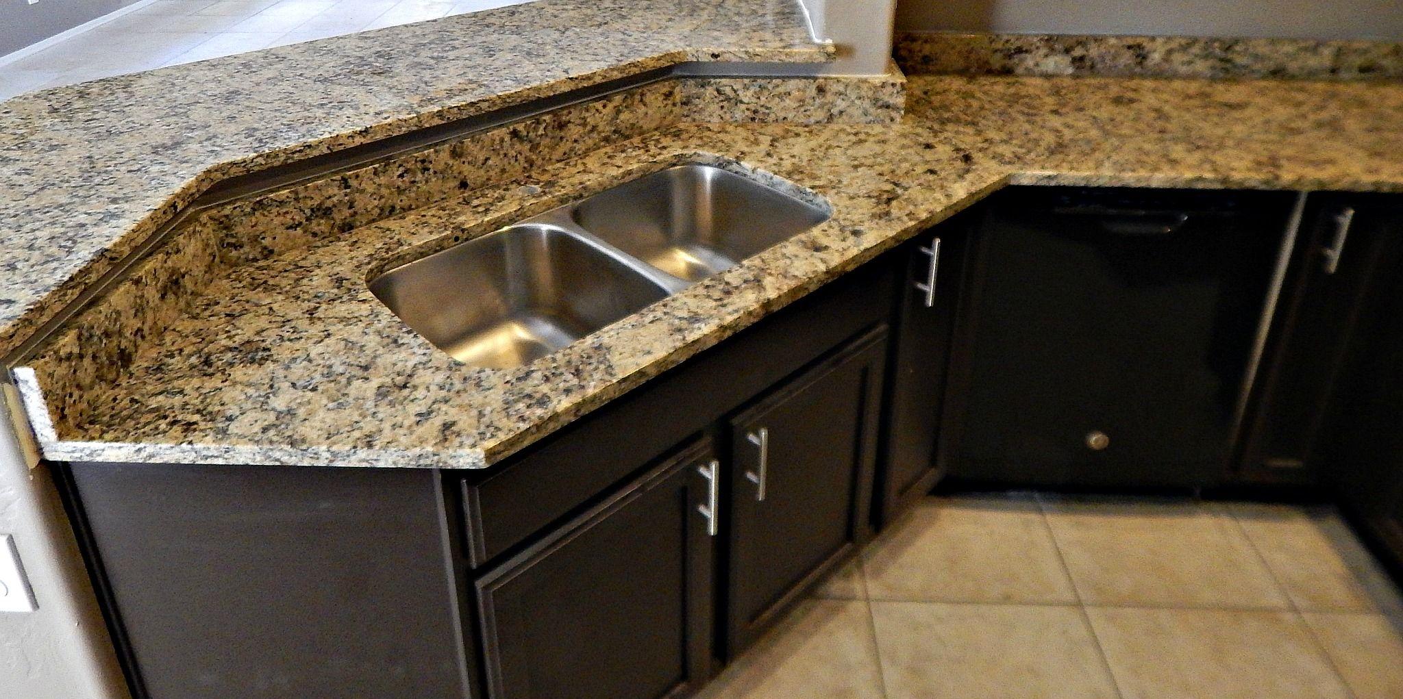 St Cecelia granite countertop remodel with flat polish edge and 50 ...