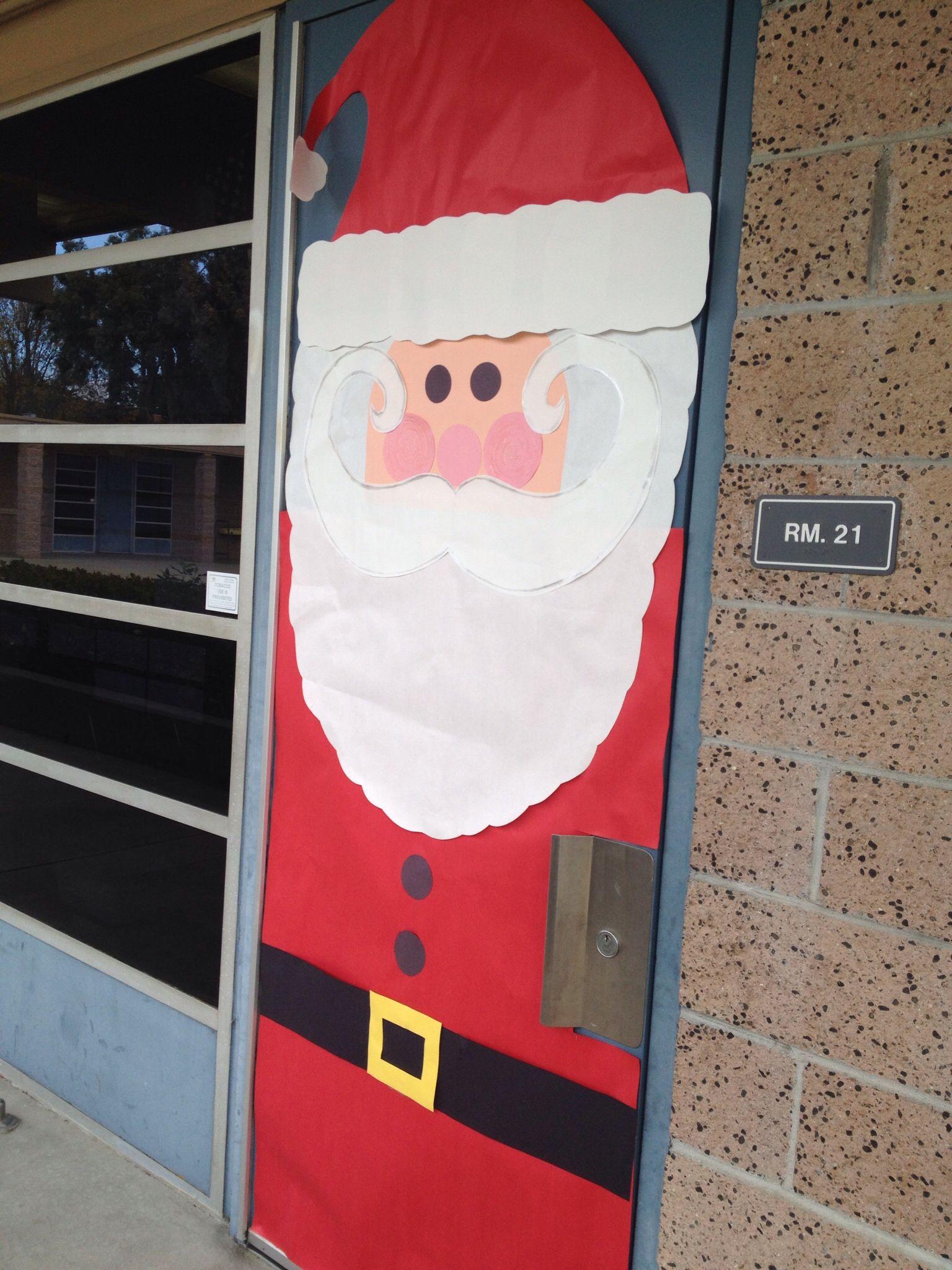 Classroom Door Santa Classroom Door Classroom Kindergarten