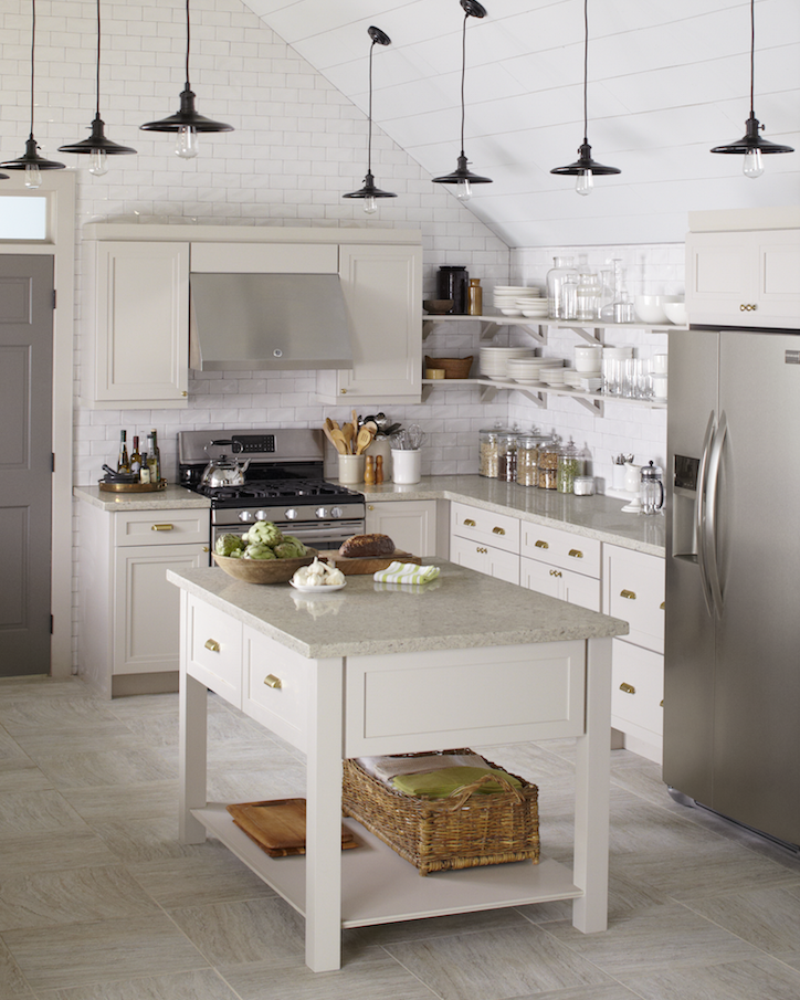 Martha Stewart Kitchen Cabinets Home Depot: This Gorgeously Gray Kitchen Features Wellston Cabinets In