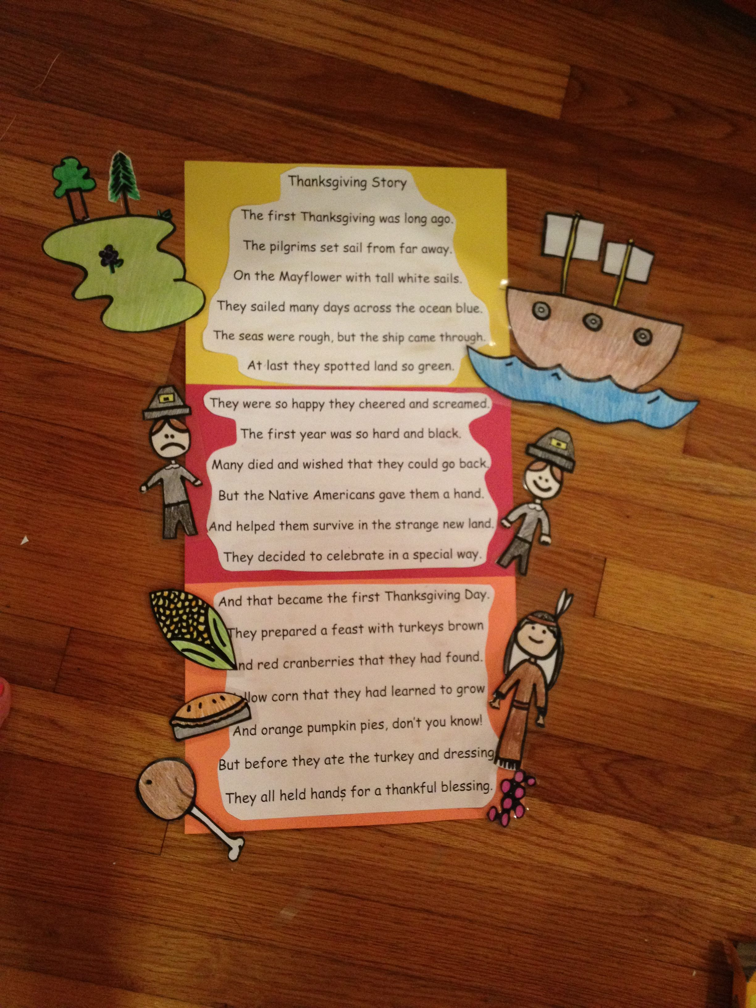 2nd Grade Thanksgiving Poem Of The Week With Laminated