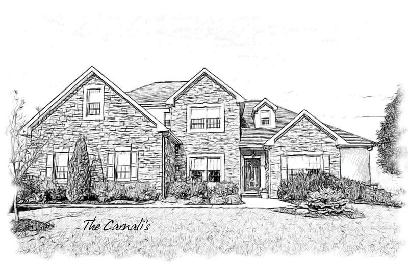 Pencil Drawings Of Houses Are Unique And Affordable Gifts For Any Occasion A Pencil House Portrait Can Be Created From A Photo Of A House Resulting In A