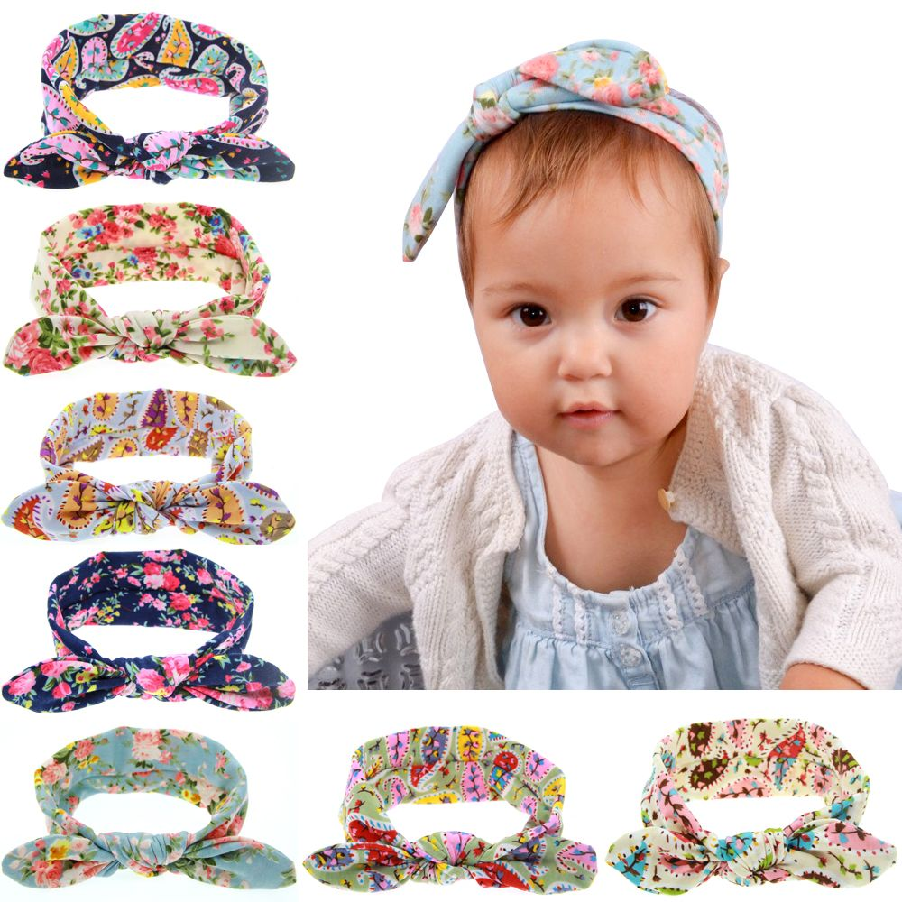 Kids Girls Baby Headband Bow Flower Hair Band Accessories Headwear Elastic bw