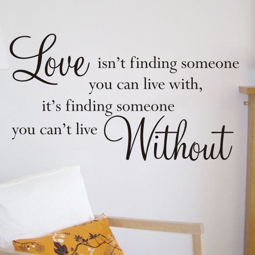 Love Wall Quotes Mesmerizing Wall Sticker Design Love Isn T Wall Quote Sticker Sizes Available