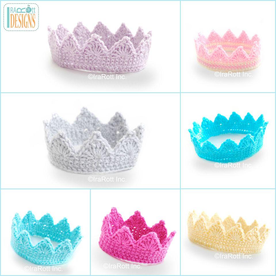 Free Princess Crown Crochet Pattern | IraRott Inc. | Proyectos que ...