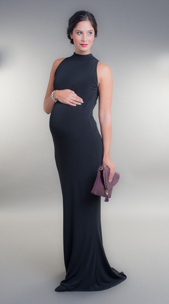 Broody Black High Neck Maternity Gown - £75.00 | Ball dresses ...