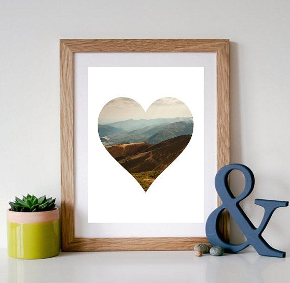 Mountain Photography  Printable Wall Art by PaperStormPrints