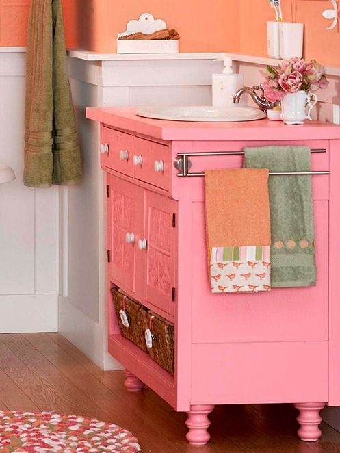 Pink Vanity Bathroom Beverly Tom For The S Jack And Jill Bath