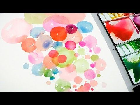 Splatter Punch Wet In Wet Watercolor Technique Youtube