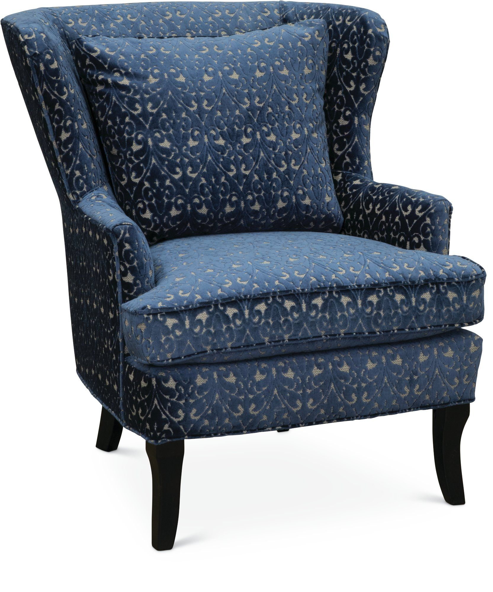 Best Blue And Cream Wing Back Chair Reader Wingback Chair 400 x 300