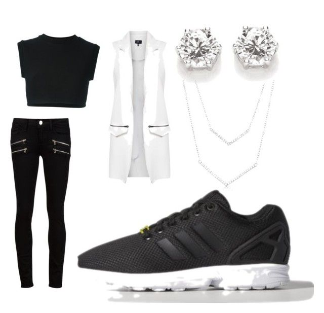 """everyday"" by rabiahk ❤ liked on Polyvore featuring moda, adidas, adidas Originals, Topshop y Paige Denim"