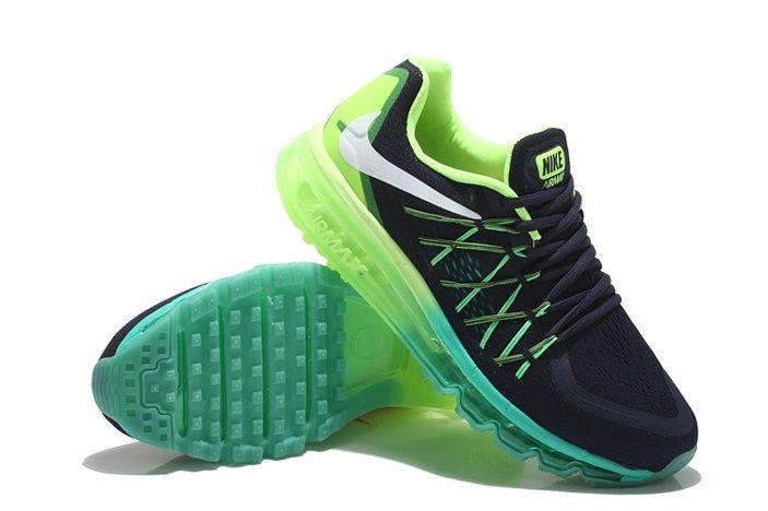 new style 92bc6 322c2 Barato Nike Air Max 2015 Plata Negro Verde Zapatillas. para hombre zapatos