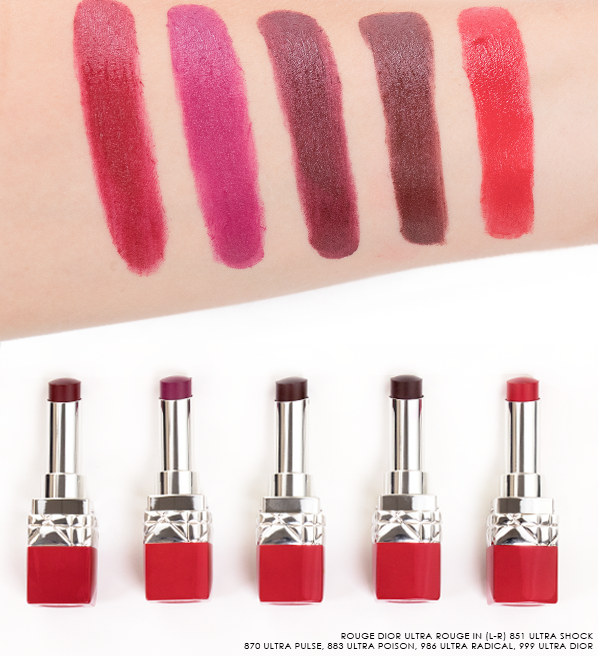 ace8a0f4 Rouge Dior Ultra Rouge Lipstick Swatches | Lips | Lipstick swatches ...