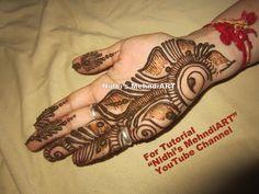 Beautiful shaded arabic front hand henna mehndi design tutorial youtube also rh pinterest
