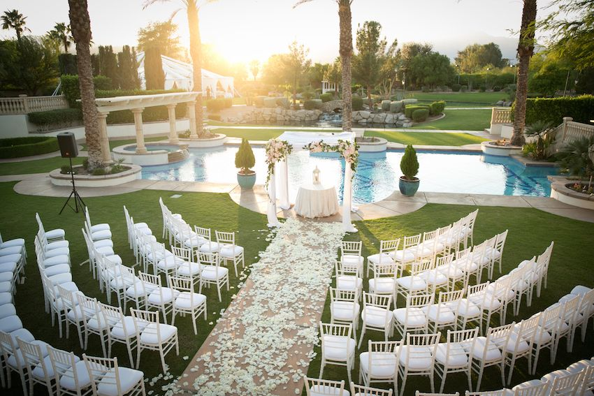 Poolside Ceremony + Amazing Open-Air Tented Reception in California