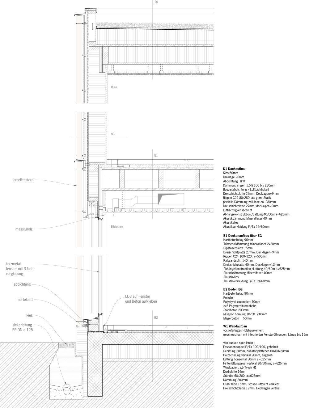 Bibliothek, Ludothek, Verwaltung, Spiez, bauzeit Architekten, Yves ...