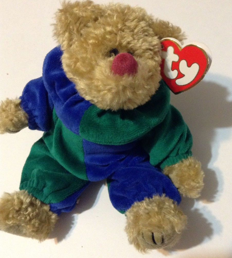 TY Beanie Baby Piccadilly teddy bear clown jester costume jointed plush  stuffed  Ty f0fa932e124e