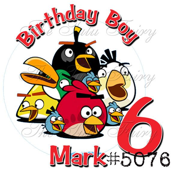 Angry Bird Birthday Shirt T Custom Name Age Personalized