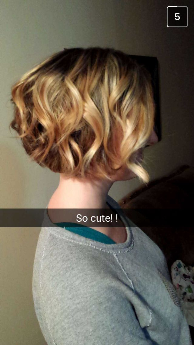 Short Flat Iron Curled Bob How To Curl Short Hair Flat Iron Curls Flat Iron Waves Short Hair