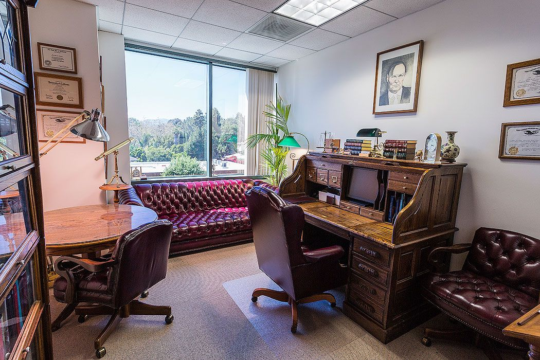 Law office decor in the small room office with elegant for Law office design ideas