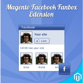 FaceBook FanBox Extension for Magento will showcase all your FaceBook fans in your magento site