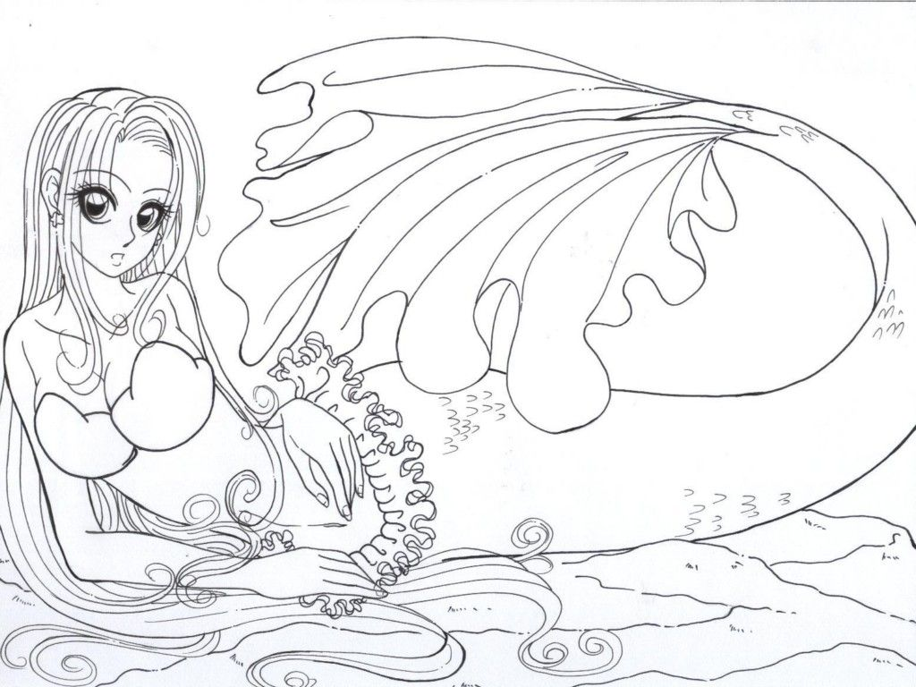 Free coloring pages mermaids - Realistic Mermaid Coloring Pages Download And Print For Free