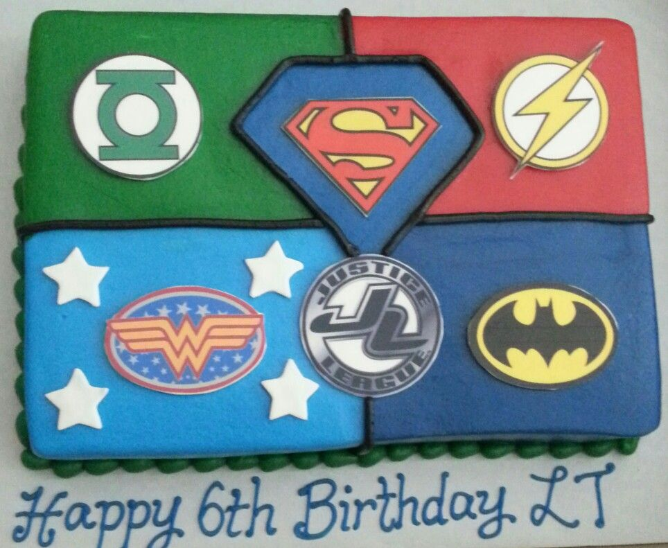Justice League Cake For My Son With Images Justice League