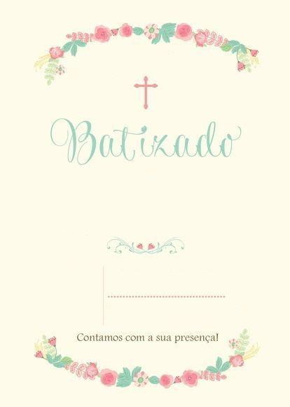 Convite De Batizado 25 Modelos E Frases Batizado Pinterest