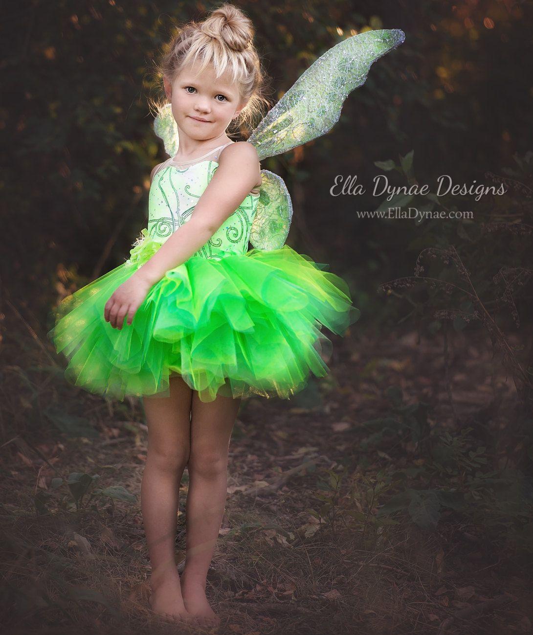 Deluxe Tinkerbell Disney Inspired Fairy Costume