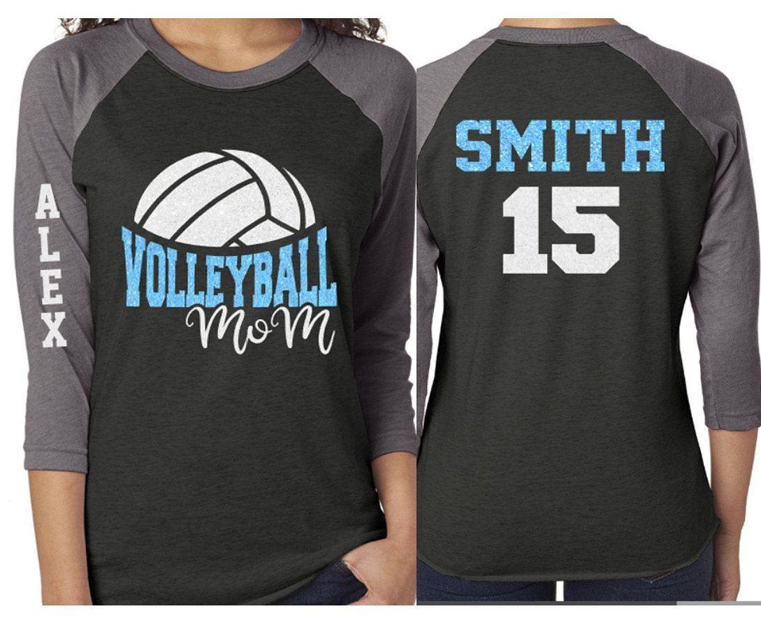 Glitter Volleyball Shirt Volleyball Mom Shirt Volleyball Etsy In 2020 Volleyball Mom Shirts Volleyball Mom Mom Shirts