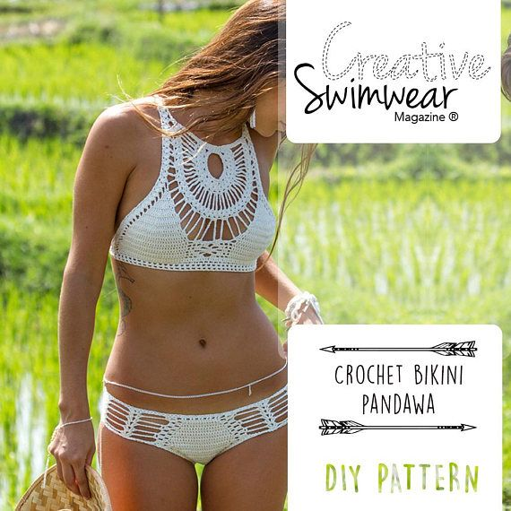 Crochet Bikini Pattern - How to make Crochet swimwear - how to make ...