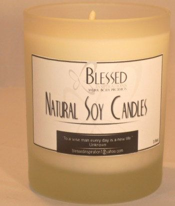 VanillaCoconut Soy Candle 7.5oz by NaturalButter on Etsy