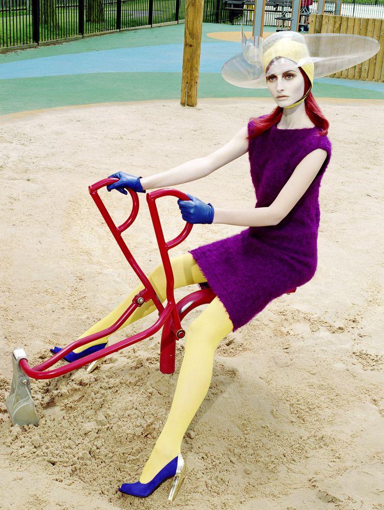 "Vogue Italy 2007 Model: Suzanne Diaz Photo by Miles Aldridge "" Editorial:The Last Range of Colours.5"