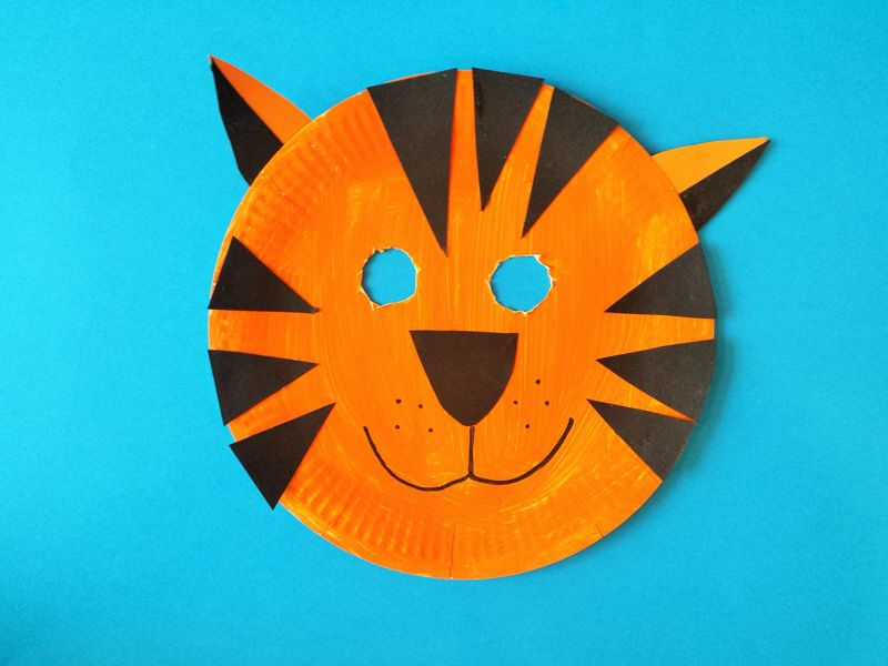 Image result for tiger masks using paper plates