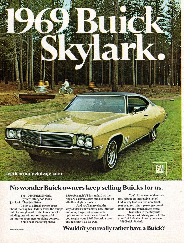 Vintage 1968 Buick Skylark Magazine Ad 1969 Muscle Car GM Auto ...