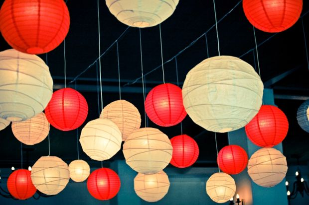 Hanging Lanterns Can Be Used In Traditional Cultural Colours For
