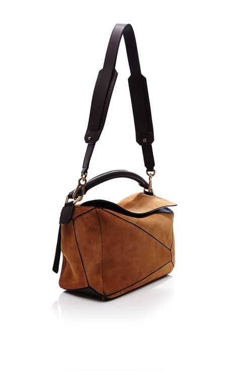 1617e3b7bd4 Small Puzzle Bag In Caramel Suede by Loewe for Preorder on Moda Operandi