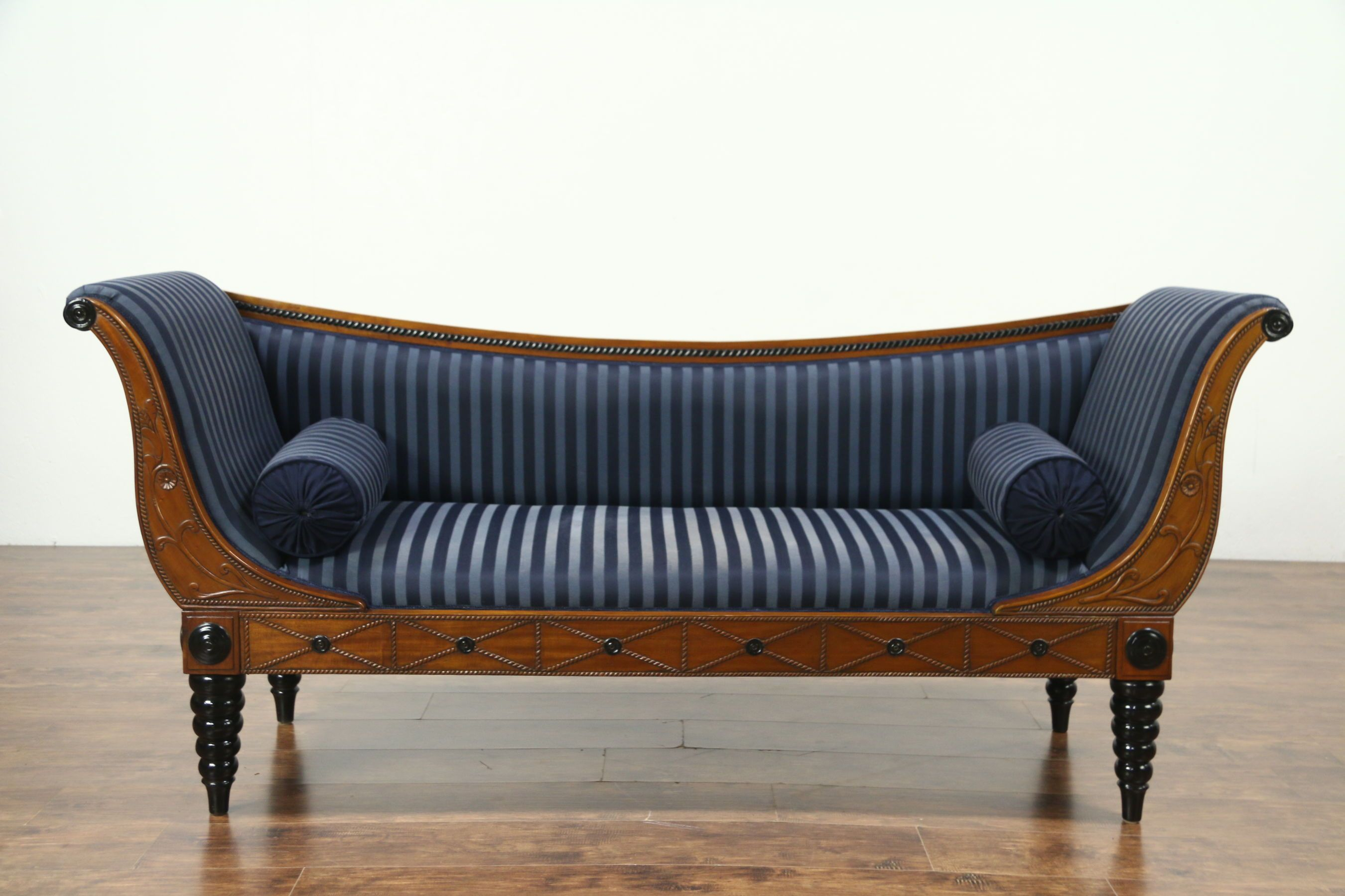 This Classic Empire Styled Sofa Was Hand Carved Of Solid