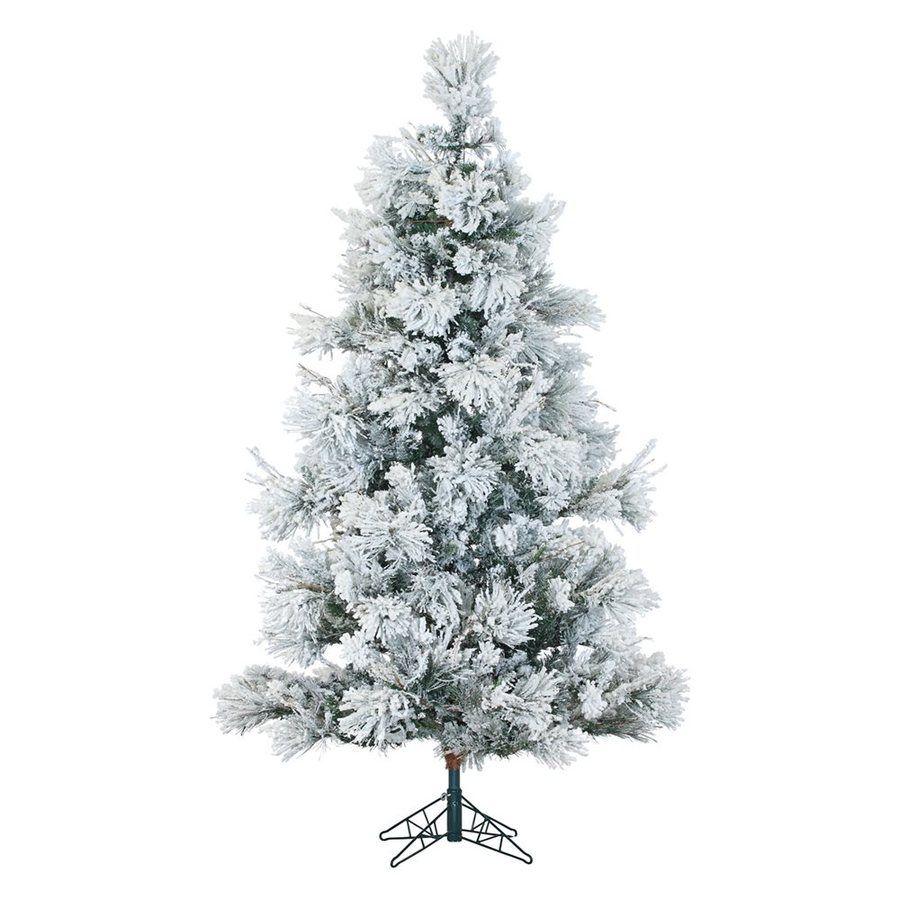 11++ Flocked christmas tree multicolor lights trends