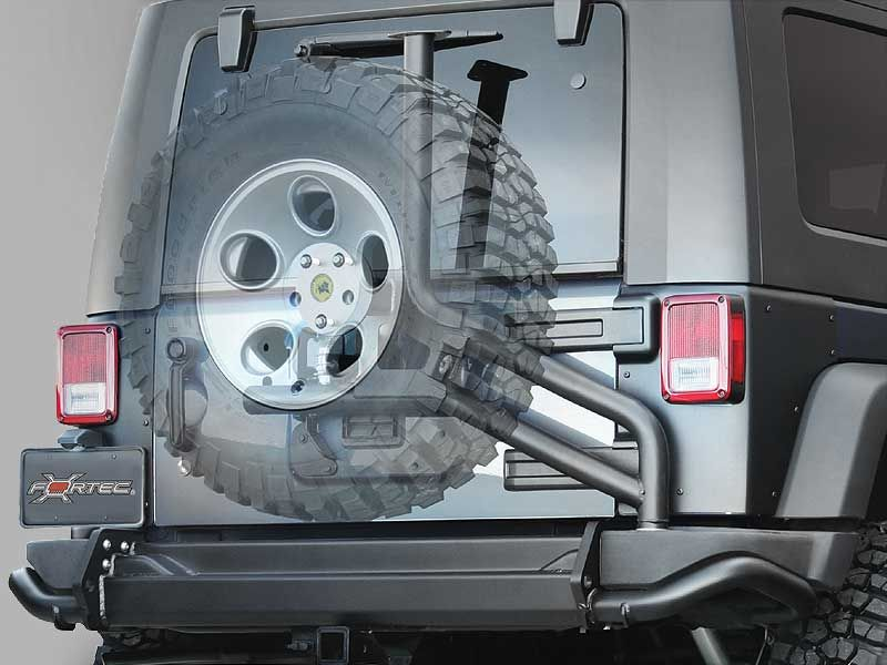 Aev Tire Carrier For Aev Or Factory Rear Bumper In Textured Black