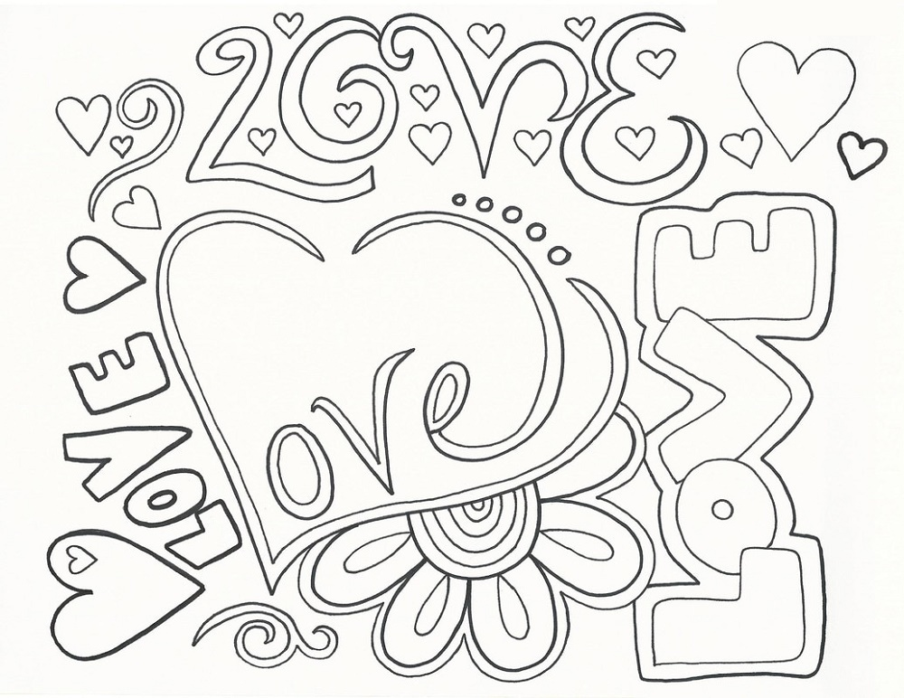 Happy Anniversary Coloring Page | Love coloring pages ...